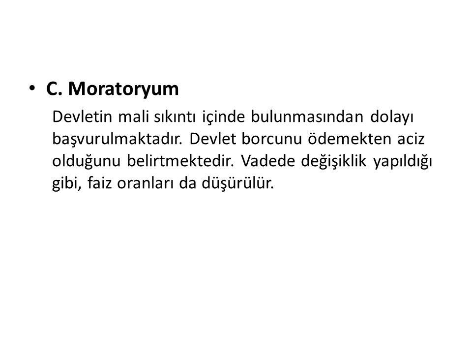 C. Moratoryum
