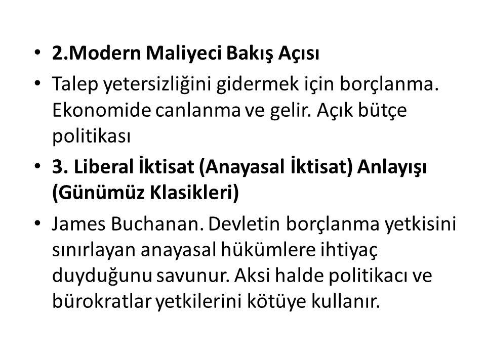 2.Modern Maliyeci Bakış Açısı