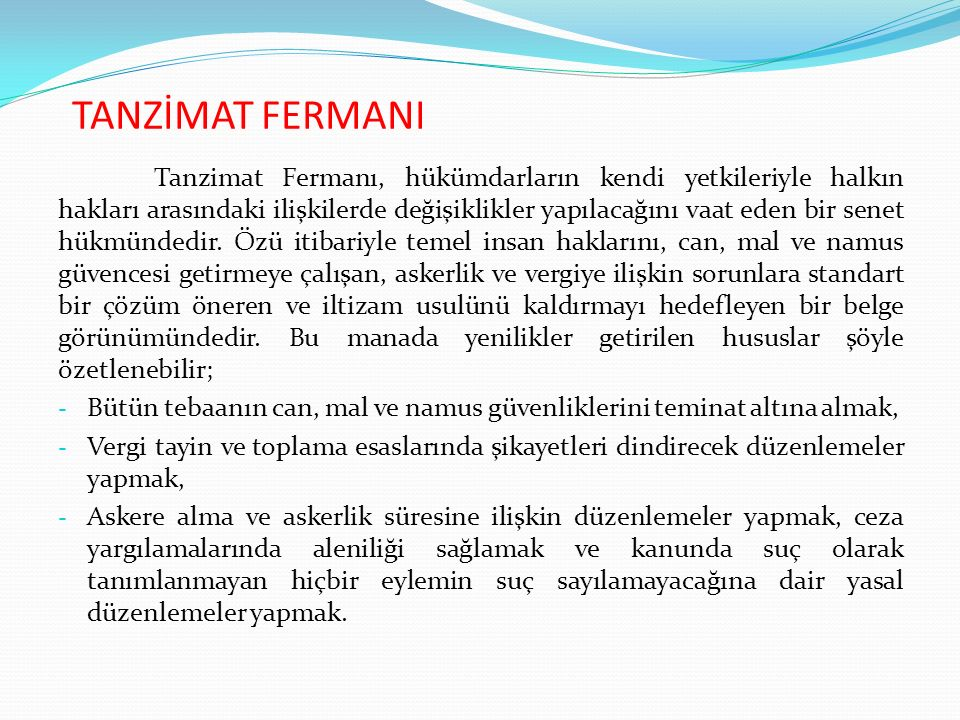 TANZİMAT FERMANI