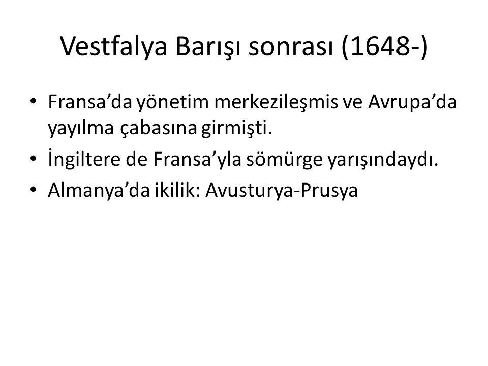 Vestfalya Barışı sonrası (1648-)
