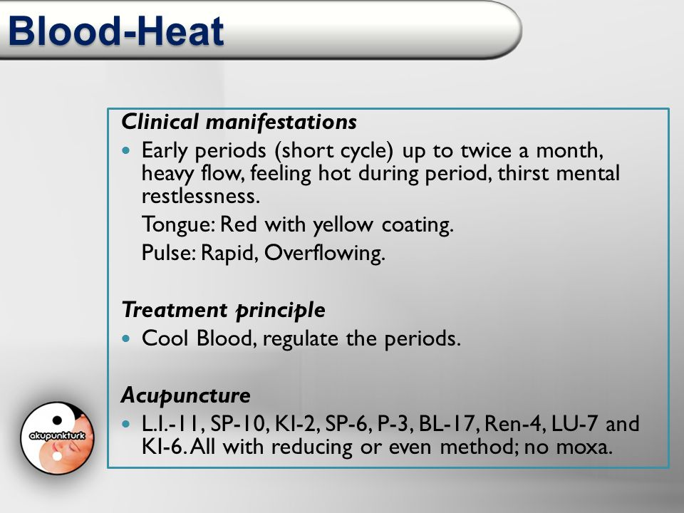 Blood-Heat Clinical manifestations