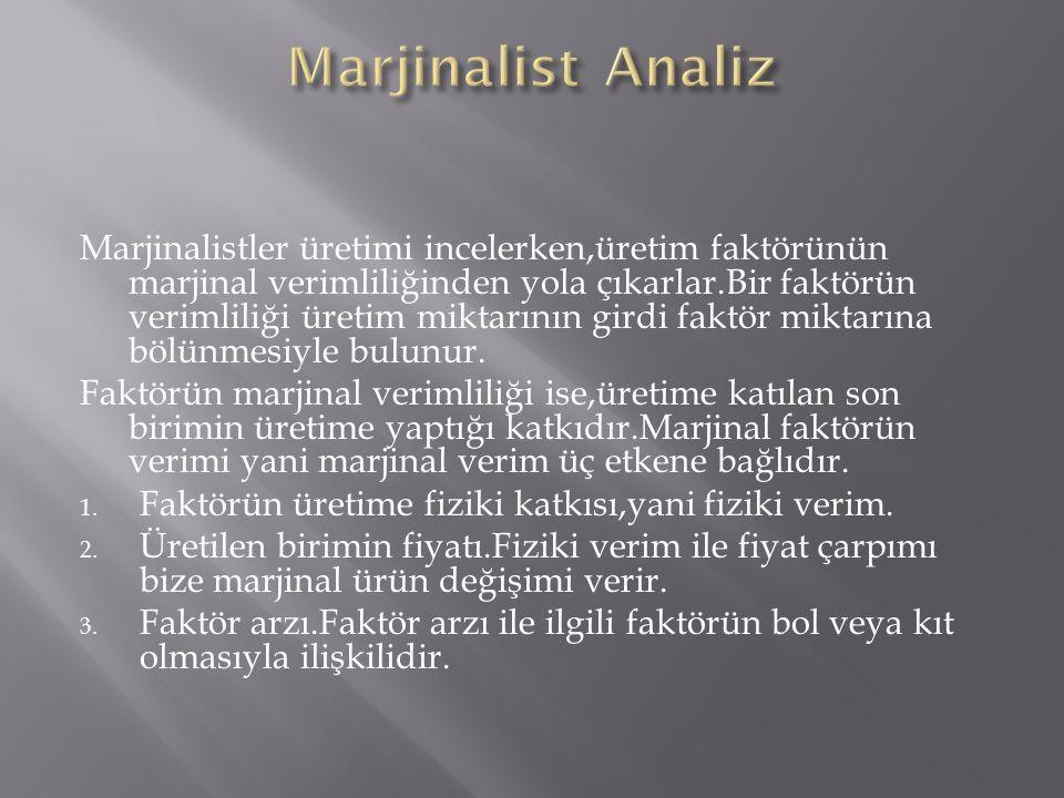 Marjinalist Analiz
