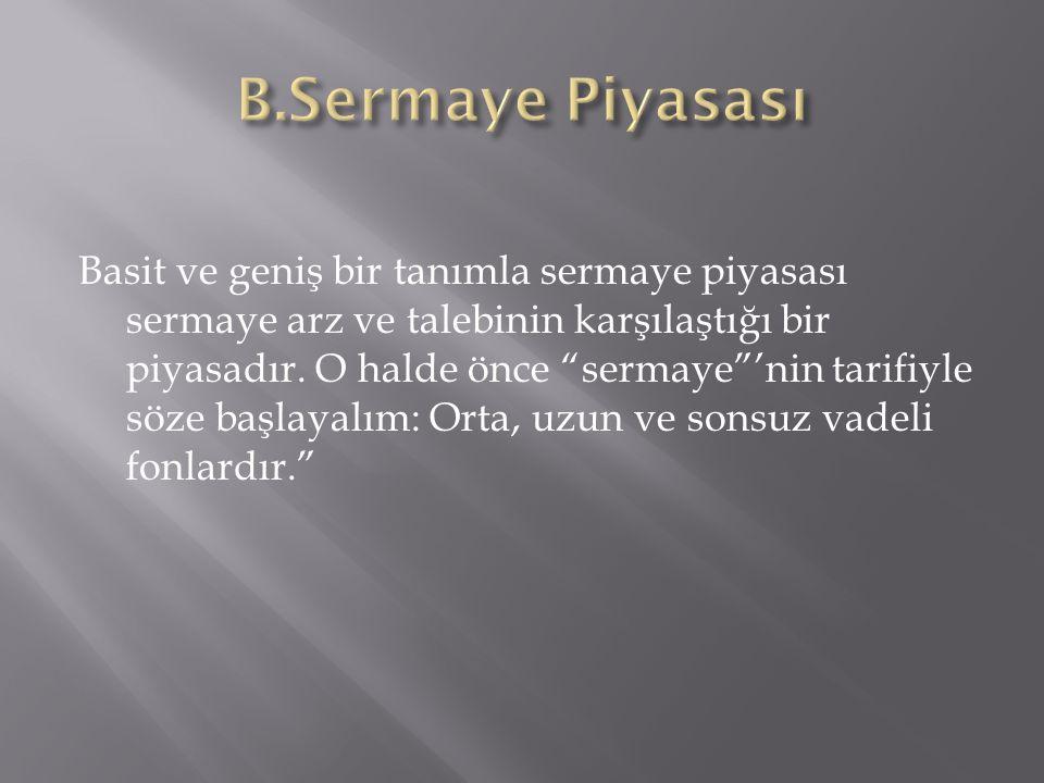 B.Sermaye Piyasası