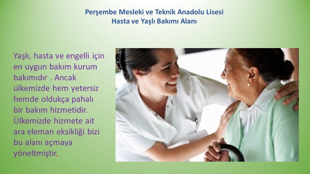 Perşembe Mesleki ve Teknik Anadolu Lisesi Hasta ve Yaşlı Bakımı Alanı