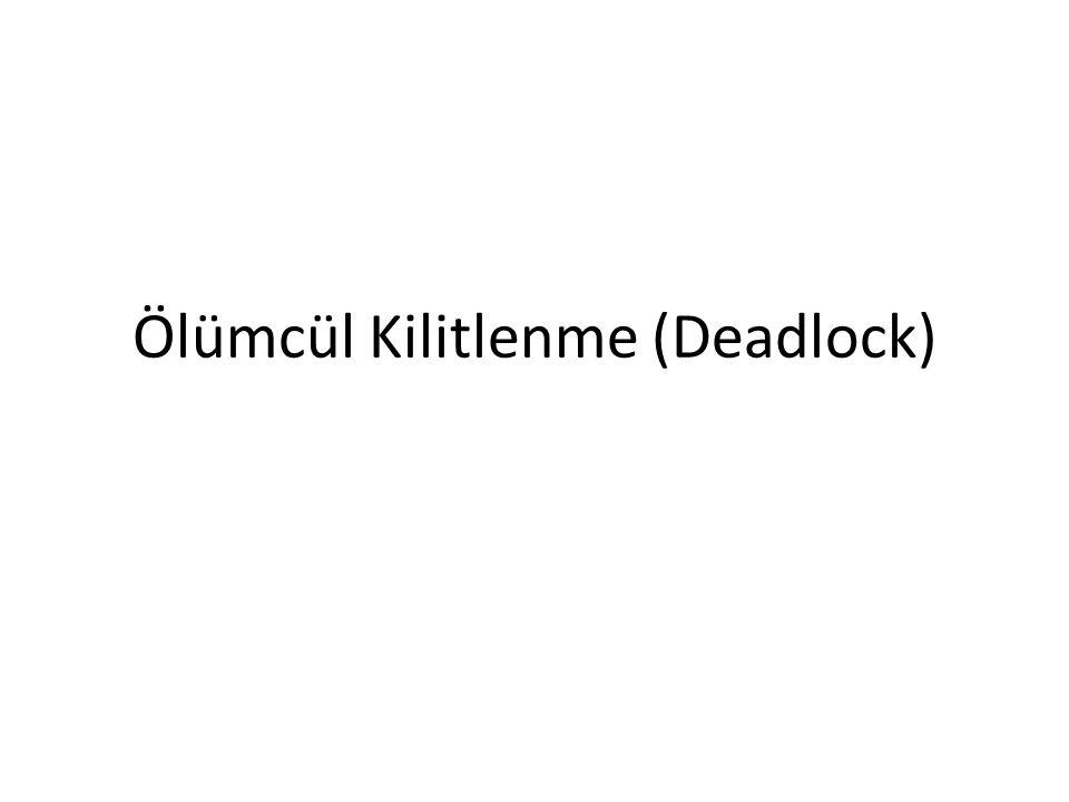 Ölümcül Kilitlenme (Deadlock)