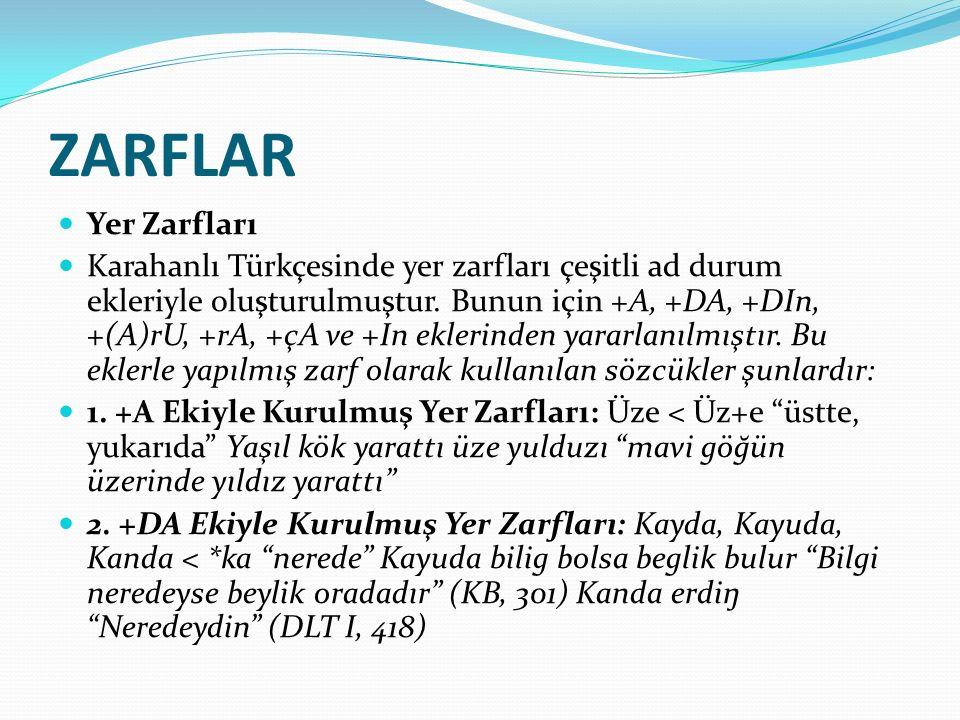 ZARFLAR Yer Zarfları.