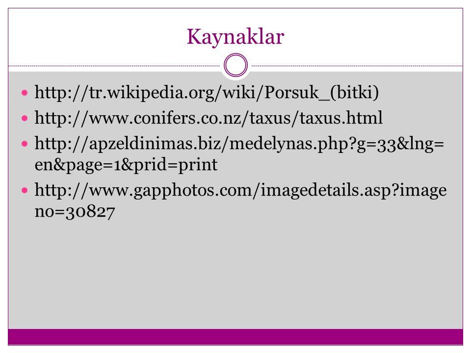 Kaynaklar http://tr.wikipedia.org/wiki/Porsuk_(bitki)