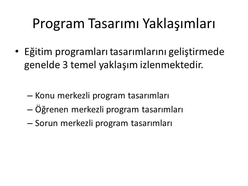 Program Tasarımı Yaklaşımları