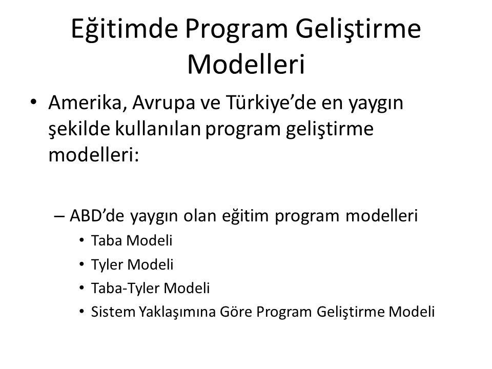 Eğitimde Program Geliştirme Modelleri