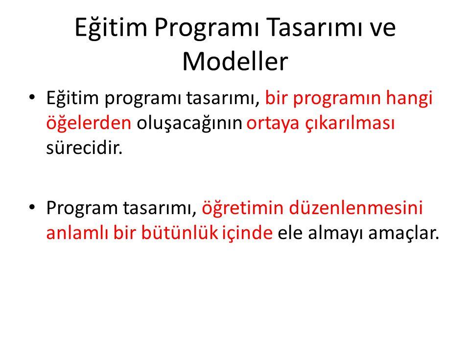 Eğitim Programı Tasarımı ve Modeller