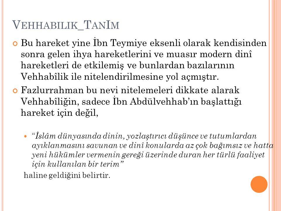 Vehhabilik_TanIm