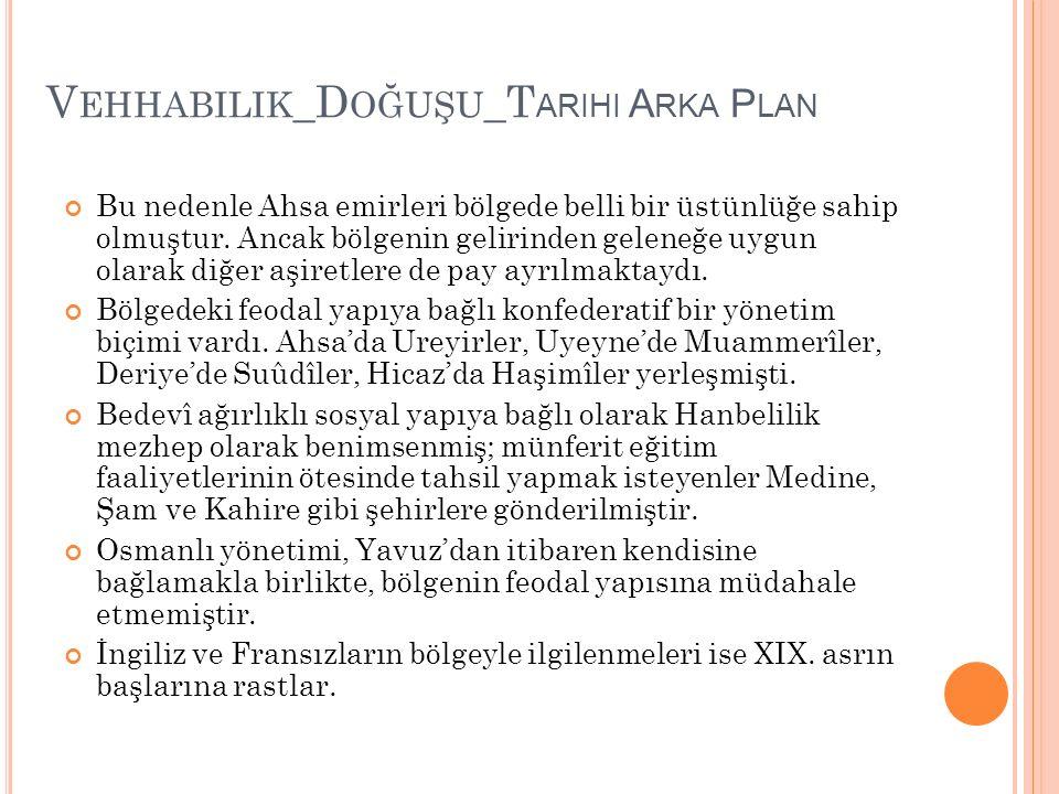 Vehhabilik_Doğuşu_Tarihi Arka Plan