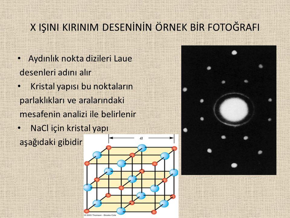 X IŞINI KIRINIM DESENİNİN ÖRNEK BİR FOTOĞRAFI