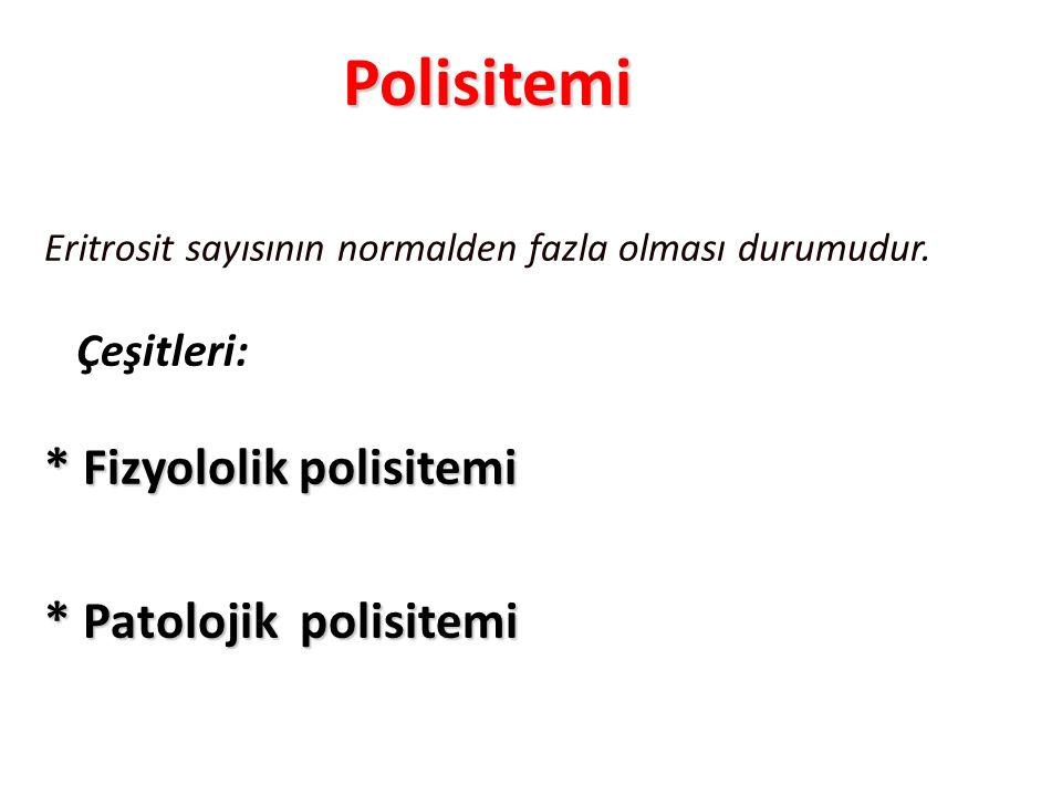 Polisitemi * Fizyololik polisitemi * Patolojik polisitemi Çeşitleri: