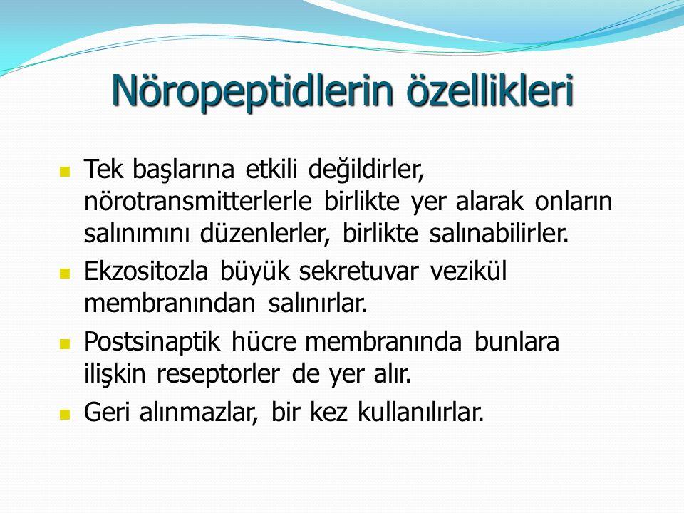 Nöropeptidlerin özellikleri