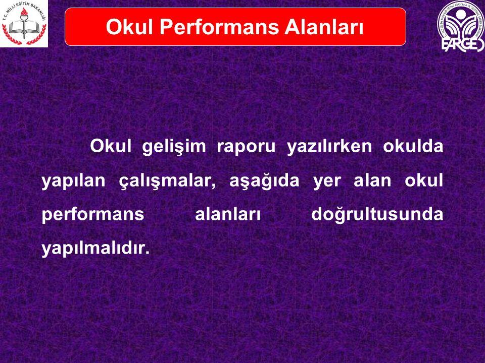 Okul Performans Alanları