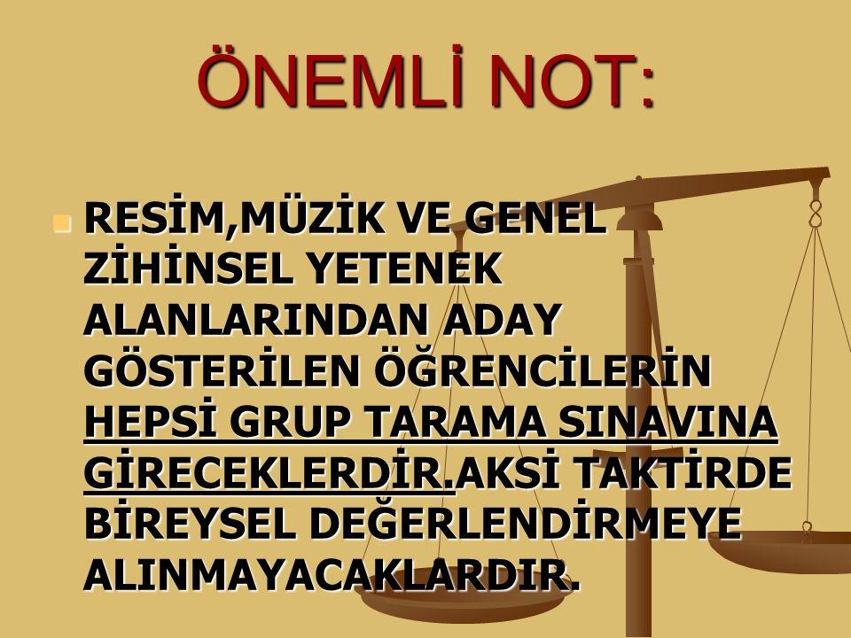 ÖNEMLİ NOT: