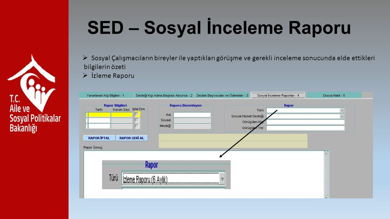 SED – Sosyal İnceleme Raporu