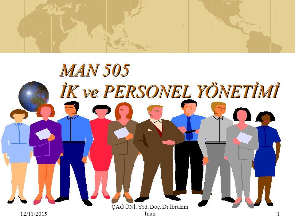 MAN 505 İK ve PERSONEL YÖNETİMİ
