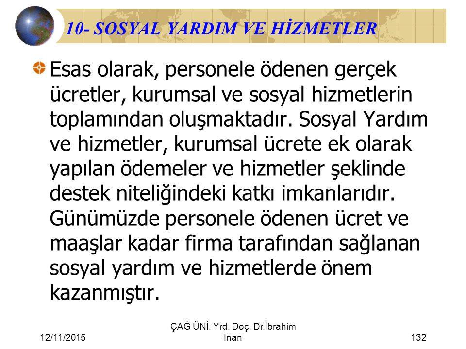 10- SOSYAL YARDIM VE HİZMETLER