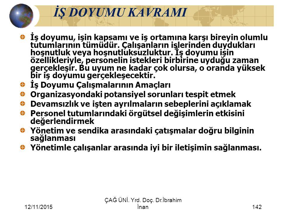 ÇAĞ ÜNİ. Yrd. Doç. Dr.İbrahim İnan