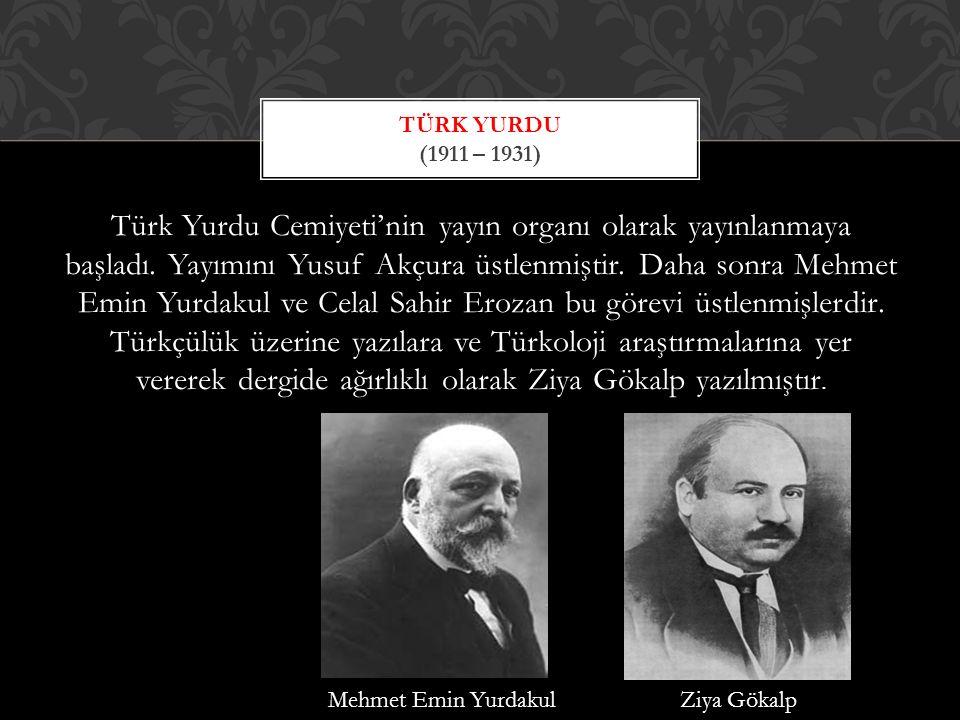 Türk Yurdu (1911 – 1931)