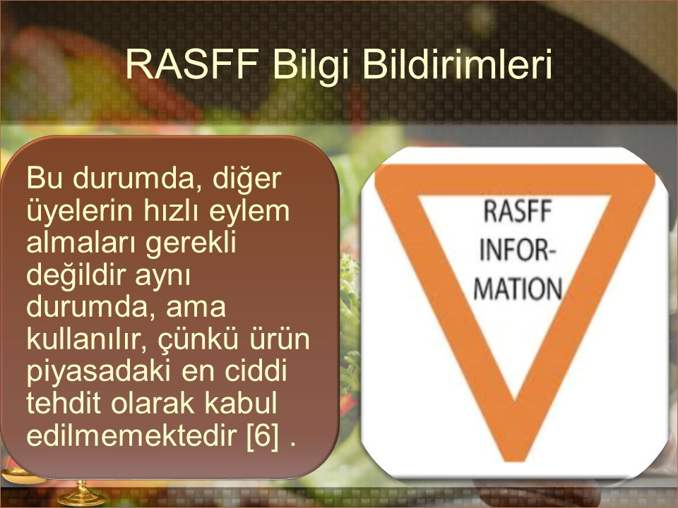 RASFF Bilgi Bildirimleri