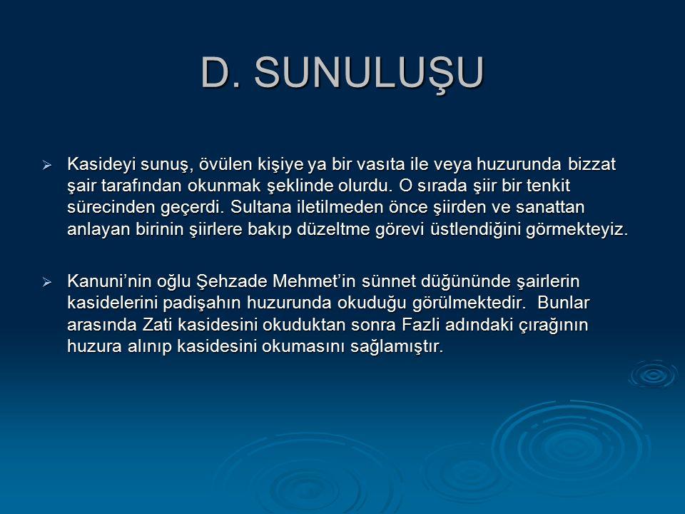 D. SUNULUŞU
