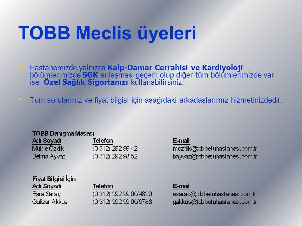 TOBB Meclis üyeleri
