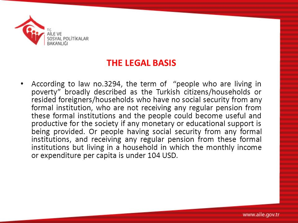 THE LEGAL BASIS