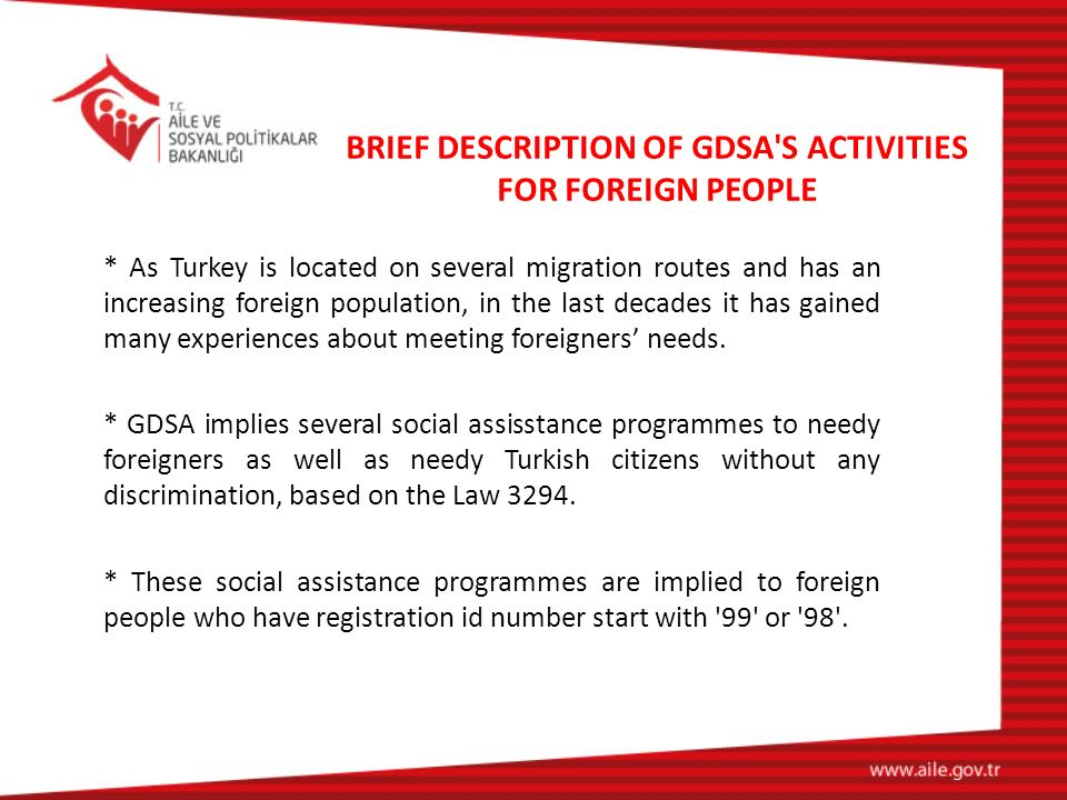 BRIEF DESCRIPTION OF GDSA S ACTIVITIES FOR FOREIGN PEOPLE