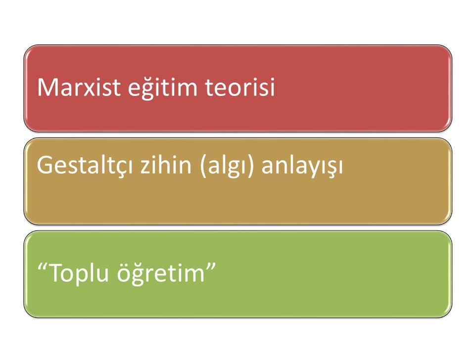 Marxist eğitim teorisi