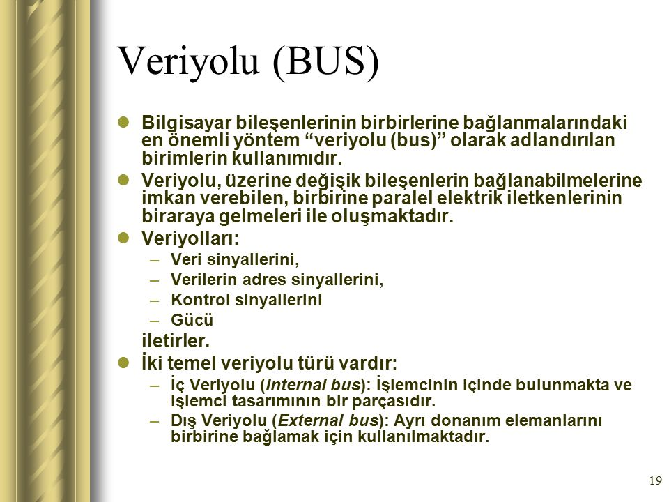 Veriyolu (BUS)
