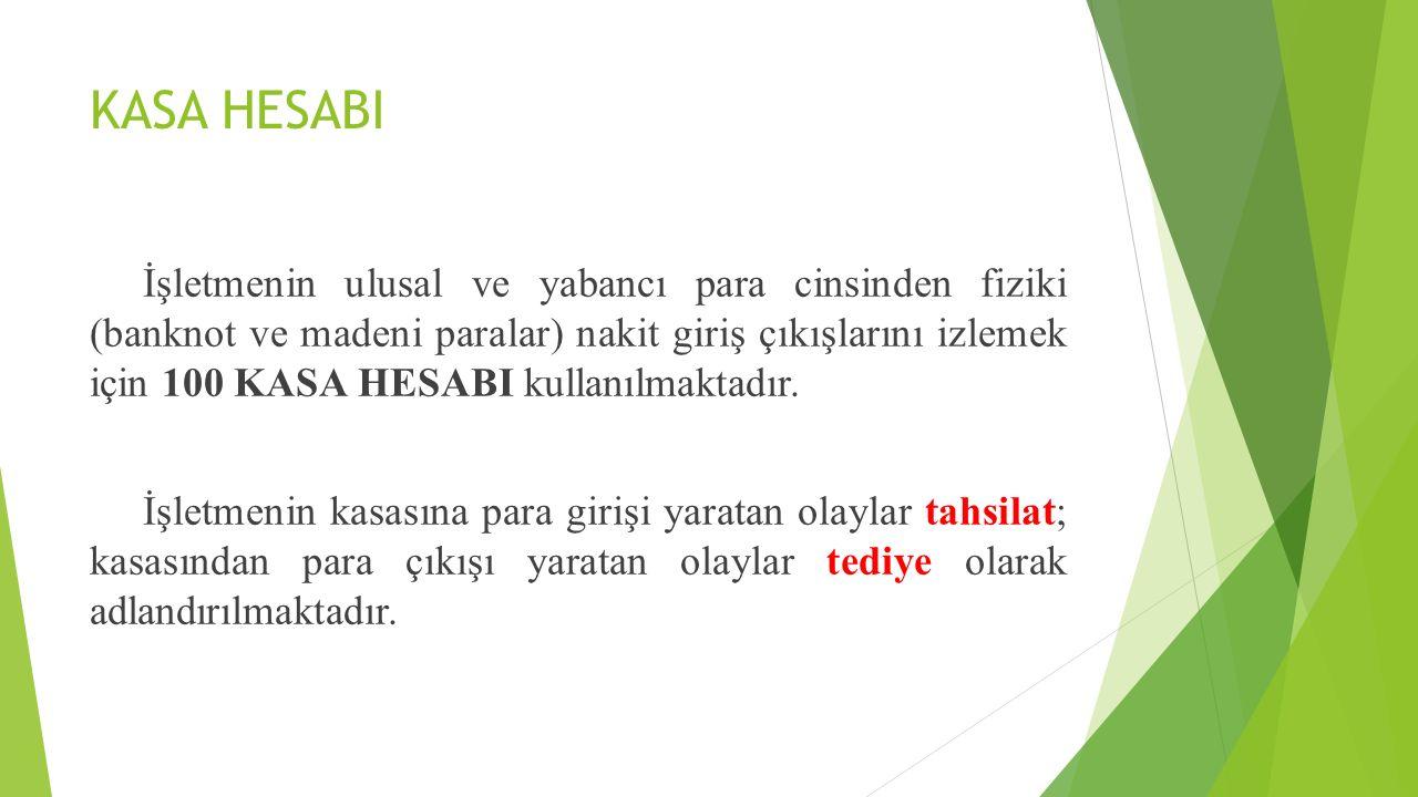 KASA HESABI