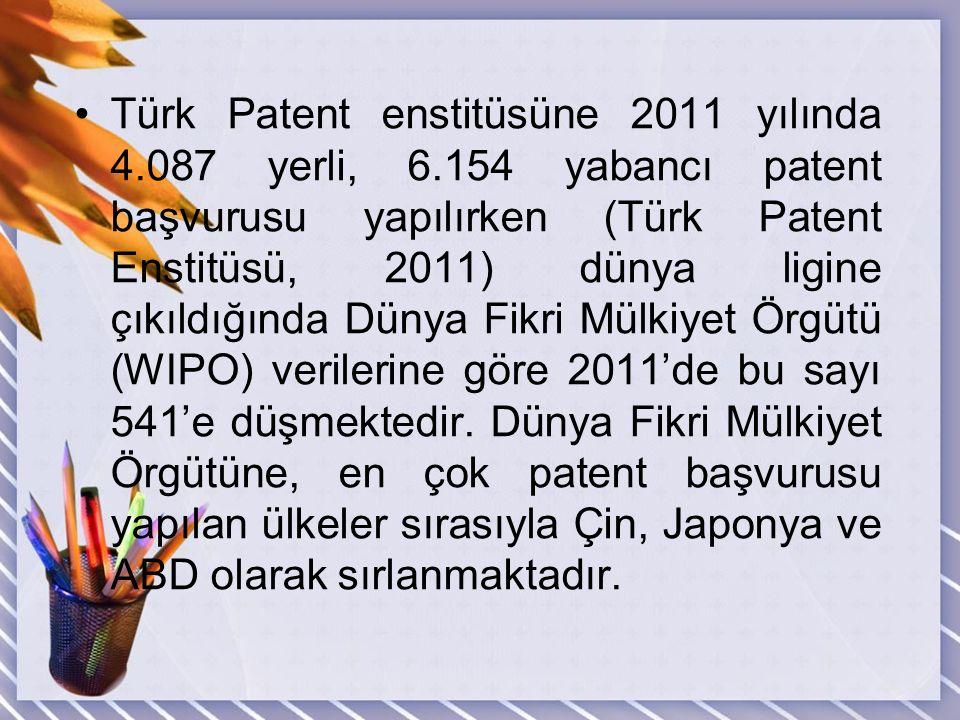 Türk Patent enstitüsüne 2011 yılında 4. 087 yerli, 6