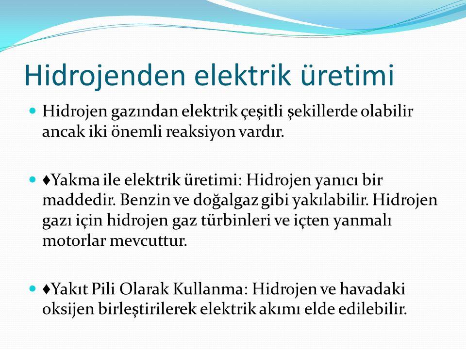 Hidrojenden elektrik üretimi