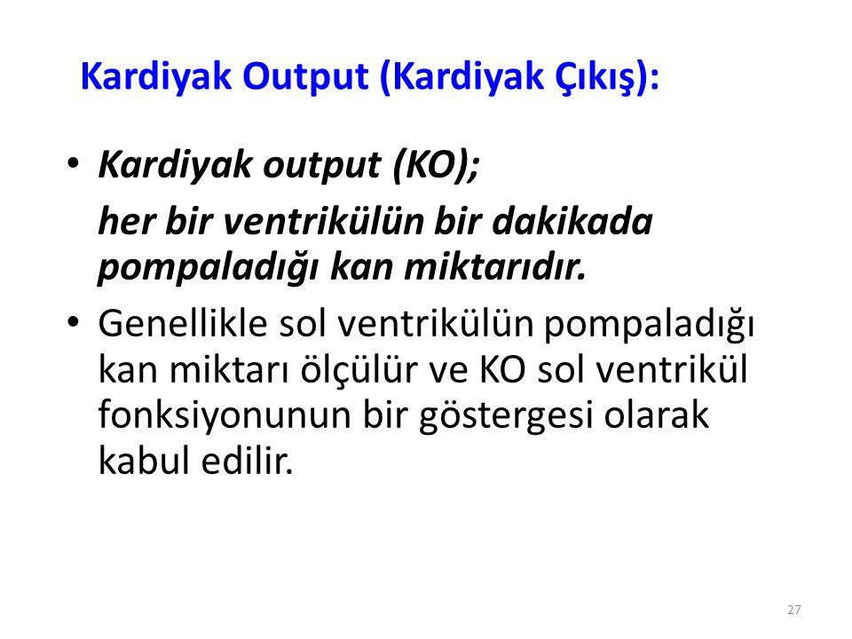 Kardiyak Output (Kardiyak Çıkış):