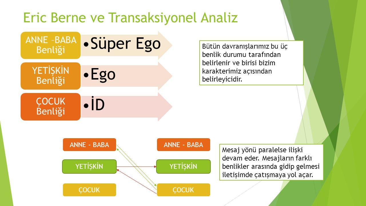 Eric Berne ve Transaksiyonel Analiz