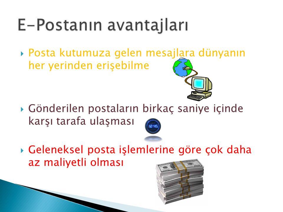 E-Postanın avantajları
