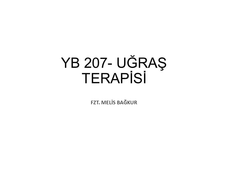 YB 207- UĞRAŞ TERAPİSİ FZT. MELİS BAĞKUR
