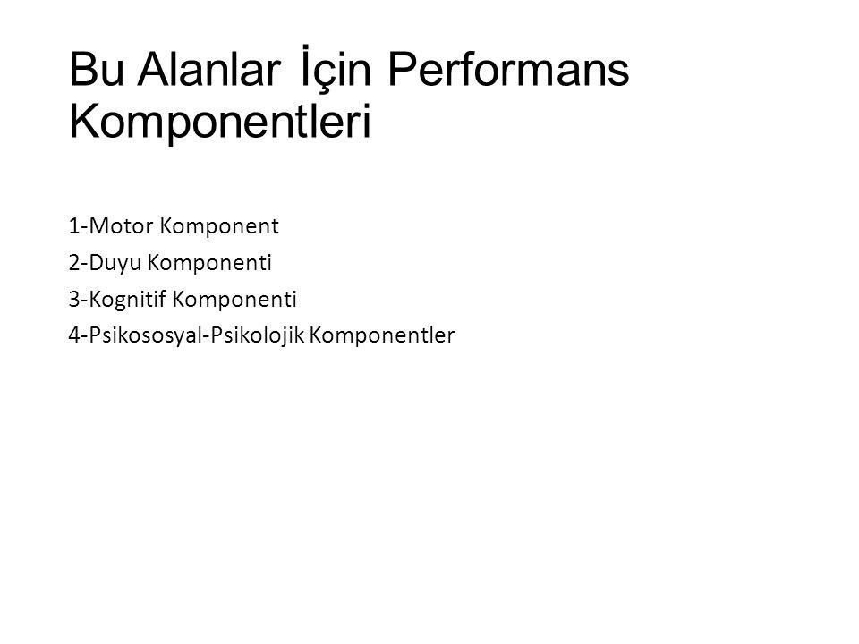 Bu Alanlar İçin Performans Komponentleri