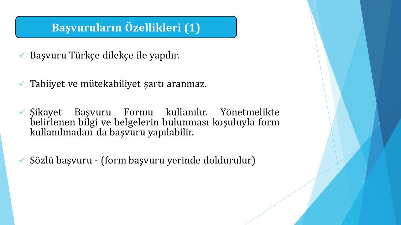 Başvuruların Özellikleri (1)