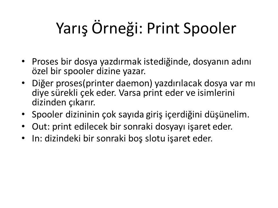 Yarış Örneği: Print Spooler