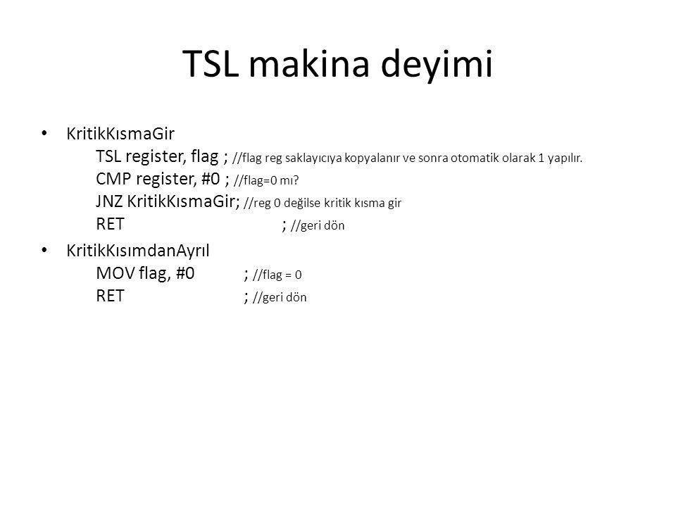 TSL makina deyimi