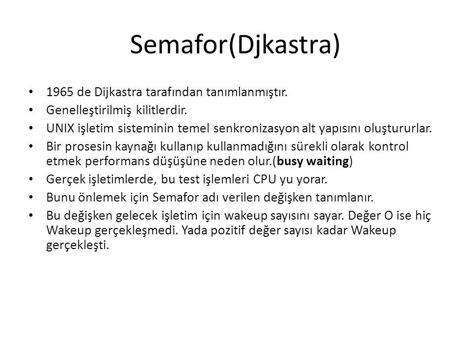 Semafor(Djkastra) 1965 de Dijkastra tarafından tanımlanmıştır.