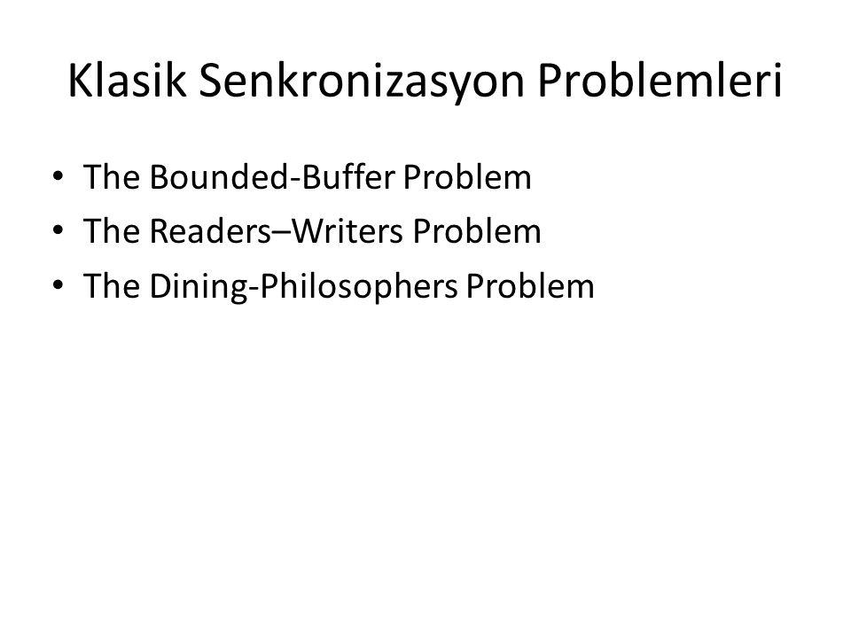 Klasik Senkronizasyon Problemleri