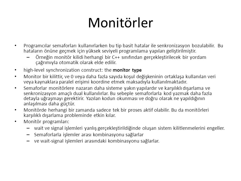 Monitörler
