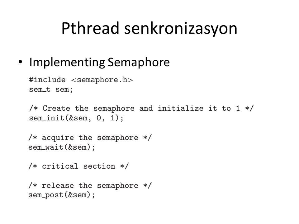 Pthread senkronizasyon