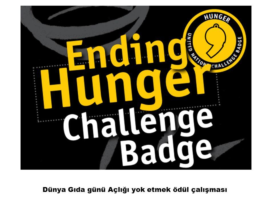 Dünya Gıda günü Açlığı yok etmek ödül çalışması