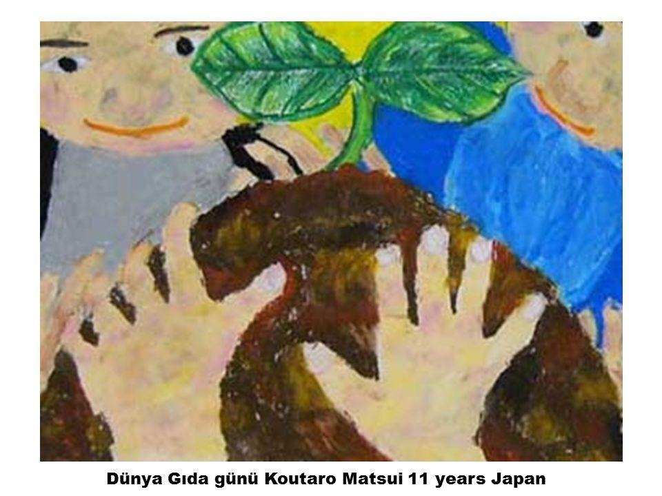 Dünya Gıda günü Koutaro Matsui 11 years Japan
